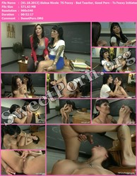 TSPussyHunters.com [01.18.2013] Aleksa Nicole & TS Foxxy - Bad Teacher, Good Porn - Ts Foxxy Initiates her Classmate Into Sex Work Thumbnail